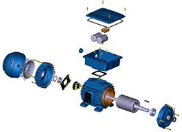 Запчасти и комплектующие для ремонта электродвигателей